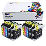 HIINK Comaptible Ink Cartridge Replacement For Brother LC201 LC-201 LC203XL use with J460DW J4320DW J4420DW J460DW J4620DW J480DW J485DW MFC-J5520DW MFC-J5620DW MFC-J5720DW J680DW J880DW J885DW(10-PK)