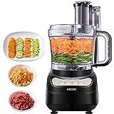 Küchenmaschine, AICOK 2.3L Food Processor, Elektrische Reibe, Fleisch Zerkleinerer inkl Knethaken, Gemüse Elektrisch und Umrühren, 3 Geschwindigkeit, Hacken, Schneiden, Würfeln, Kneten