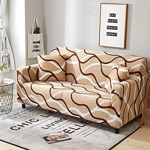 Newellyy - Funda de tela elástica extensible para sofá, funda elástica para sofá o sofá, de algodón Tight Wrap Slip-Resistant Corner Cover Sofa Covers for Pets-13_1-Seat_90-140 cm