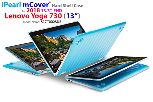 mCover Hard Shell Case for New 2018 13.3' Lenovo Yoga 730 (13) Laptop (NOT Compatible with Yoga 710/720 / 910/920 Series) (Yoga 730 Aqua)