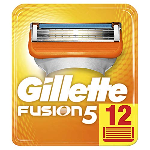 Gillette Fusion5 scheermesjes voor mannen, per stuk verpakt (1 x 12 stuks)