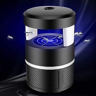 WAZA Lámpara Antimosquitos LED USB Lámpara para Matar Mosquitos Fotocatalizador Trampas para Insectos Matamoscas Area Efectiva 60㎡ para Interior Hogar Oficina Jardín (Negro)