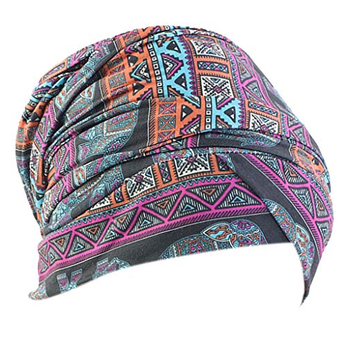 SM SunniMix Gorro de Algodón para Mujer con Bandana Turbante Elástico - Multicolor, 170x26cm