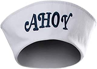 Steve Robin Scoops Ahoy Hat Nautical Sailor Cap Halloween Cosplay Costumes Accessory White