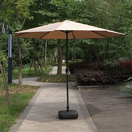 2.7m Parasol Grande de Jardín Sombrilla para Exterior Manivela de Apertura Fácil Outsunny Sombrilla Parasol para Jardín de Césped, Terraza, Patio Trasero, Piscina y Playa,no Incluye Base