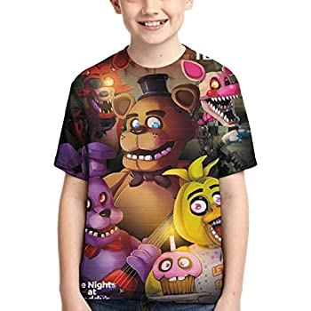 issct Kid s T-Shirt FN-AF Fi-ve Nig-hts at Fred-dy s T-Shirt Cool Shirts Short Sleeve Summer Tee for Boys/Girls/Teen/Youth X-Small Black
