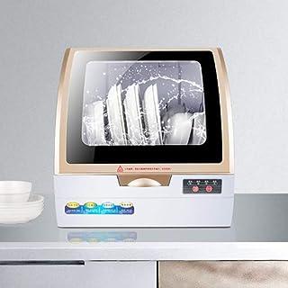 WWXY Lavavajillas de encimera compactos,portátiles tamaño estándar,4 programas Lavado,desinfección por Calor, Vidrio, Necesita 5 litros de Agua