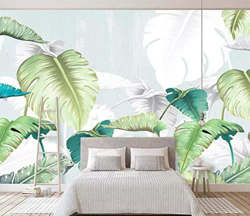 3D vliesbehang fotobehang abstract 3D wallpaper muurschildering kinderkamer achtergrond muur tropisch regenwoud banaanblad hotel nachtwand behang 430*300 430 x 300.