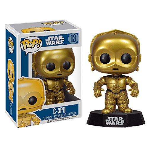 Funko - Star Wars C- 3PO Pop 10 cm Bobble Head Wackelkopf Figur