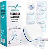 Dental Check 90 Retainer & Denture Cleaning Tablets | 90 day Supply | Remove Bad Odors, Plaque, Stains from Dentures, Night Guards, Mouth Guards & Removable Appliances | Plastic Dental Bath Included!