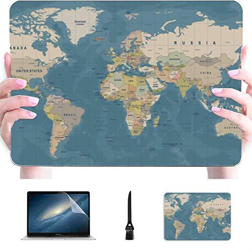 Case for Macbook Pro Case 15 Cartoon Funny World Map Plastic Hard...