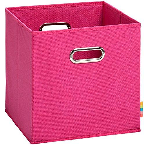 Schmetsdorf (H&S) Aufbewahrungsbox MIA - Faltbox - Korb - 28x28x28 cm - (Pink)
