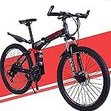 GWL Bicicleta Plegable para Adultos, 24 26 Pulgadas Bike Sport Adventure - Bicicleta para Joven, Mujer Mountain Bike, Aluminio, Unisex Adulto / 26inch / 21speed