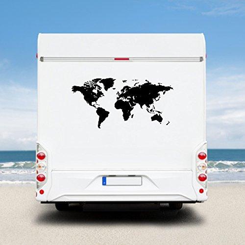 WA105 Clickzilla - Wohnmobil Aufkleber - Weltkarte