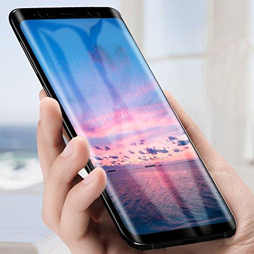 Samione Pellicola Vetro Temperato Galaxy S9 Plus, Pellicola Protettiva in Vetro Temperato per Samsung Galaxy S9 Plus Screen Protector Film, Ultra Resistente Protezione di Completo Schermo, Oro