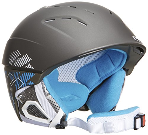 ALPINA Skihelm Spice, Darksilver-Blue Matt, 55-59