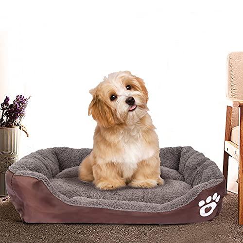 YINULA - Cojín para gatos, cama para perros pequeños de 54 x 42 cm, caseta suave para perros antiestrés, relajante.