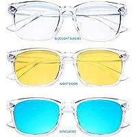 ONKE Blue Light Blocking Glasses Computer Gaming Eyeglasses Frame Anti Blue Ray