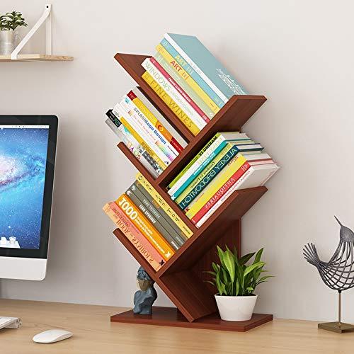 YIXIN2013SHOP Inicio Librería Piso Estudio Creativo Librería en forma de árbol Estante de libros Muebles Multi-rejilla Gabinete de almacenamiento de abrasión Estante estante (Color: 01)