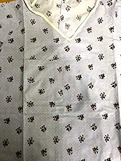 """IV Patient Medical Gown 52""""x 66"""", Sleeve 11""""x 14"""" with Snaps & Telemetry Pocket 6 Gowns, Cotton/Poly Blend"""