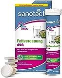 sanotact Fettverdauung Drink • 20 vegane Brausetabletten mit Cholin + Artischocken-Fruchtextrakt • Brausetabletten zum Abnehmen • Unterstützen den Fettstoffwechsel