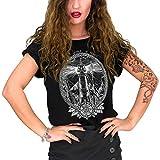 VIENTO Lighthouse Camiseta para Mujer (Negro, S)