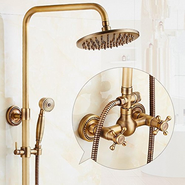 X-shower All Copper Retro Shower Shower Faucet Set, Hot And Cold Copper Bronze Shower Shower Set,Gourd