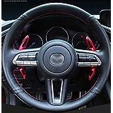 マツダ 3 Mazda3 セダン ファストバック BP系 (2019年5月24日~) CX-30 DM系 (2019年11月29日~) 専用 高品質アルミ合金 パドルシフトカバー 2点セット Mazda3 BP系, CX-30 DM系(赤)