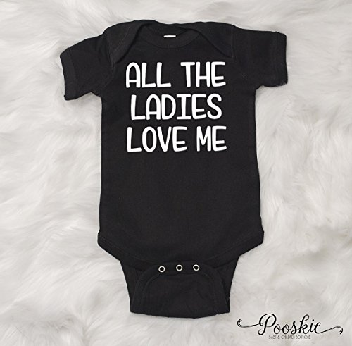 All the Ladies Love Me Baby Shirt, Funny Baby Shirts, Funny Baby Gifts, Baby Boy Clothing, Ladies Man Baby Outfit, Baby Boy Outfit (18 Months)