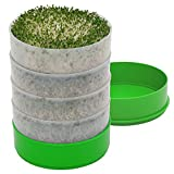 Kitchen Crop VKP1200 Deluxe Kitchen Seed Sprouter, | 6' Diameter Trays, 1 Oz Alfalfa Included