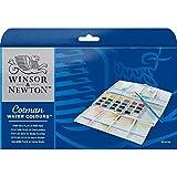 Winsor & Newton Cotman Watercolor Paint, Plus Set 24 Half Pans, Set of 24