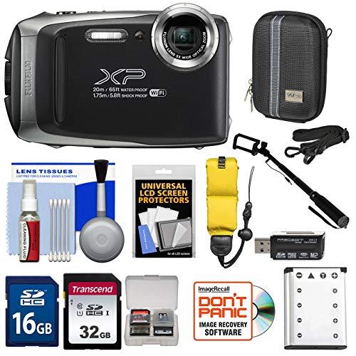 Fujifilm FinePix XP130 Shock & Waterproof Wi-Fi Digital Camera (Silver) with 32GB Card + Battery + Cases + Float Strap + Selfie Stick + Kit