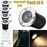 Spot LED Encastrable Exterieur Rond 3W 230V AC 270Lumen Projecteur de Jardin Extérieur 45° Blanc...