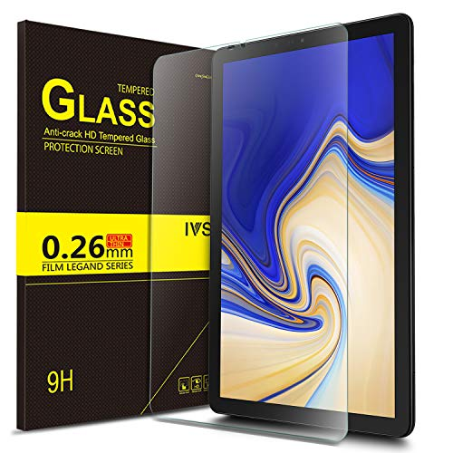 IVSO Screen Protector for Samsung Galaxy Tab S4 10.5 T830N/T835N, Clear Tempered-Glass Flim Screen Protector for Samsung Galaxy Tab S4 SM-T830N/T835N 10.5 inch, 1 Pack