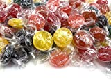 CrazyOutlet Assorted Sugar Free Fruit Buttons Hard Candy, Individually Wrapped Bulk Pack 2 Lbs