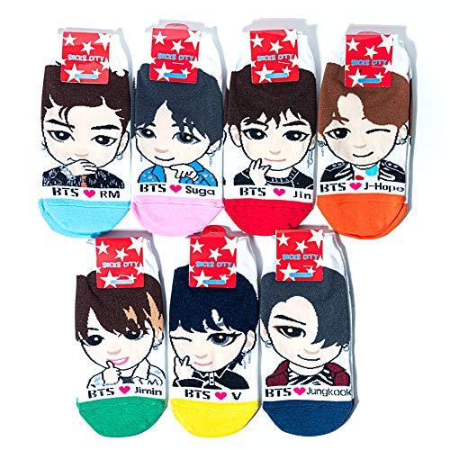 Kpop BTS Character Socks For Women Set of Seven Members
