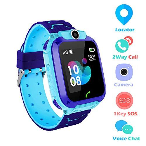 HD-aanraakscherm IP67 Waterdicht Kinderen Smartwatch LBS-locatiemonitor SOS-spraakoproep met camera (Blauw)