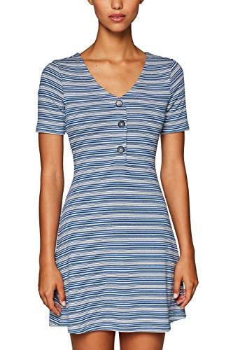edc by ESPRIT Damen 039CC1E020 Kleid, Weiß (Off White 110), Small (Herstellergröße: S)