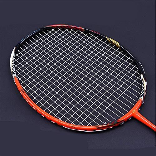 QIAO Badminton-Schläger, Full-Carbon-Badminton-Schläger echt, Ghost Chop Rahmen, Offensive Profi-Schläger,White