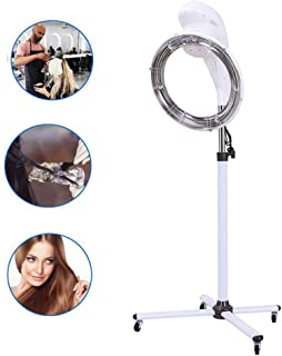 Drying Hood,Hair Processor,Adjustable Color Processor in UFO Shape, 360° Rotating Heating,Vertical Hair Dryer,Suitable for Home Appliances in Salons and Beauty Salons,White