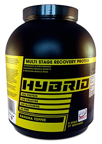 PPS Nutrition Multi Stage Recovery All in one 2.25kg Protein, a gold standard protein with an optimum nutrition blend of Whey HMB Creatine Glutamine and BCAA to levels a protein shake should have. (Banana Toffee, 2.25kg)