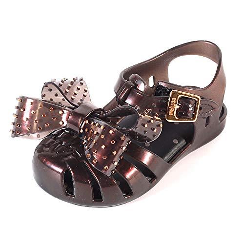 Melissa Mini Aranha Disco Bow Melflex Sandal Liquorice-Black-9 Size 9