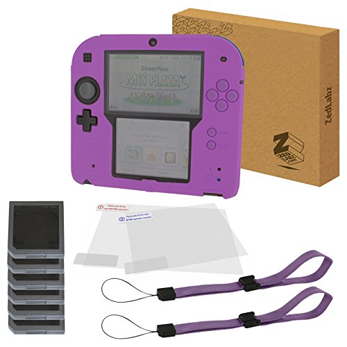 Kit de accesorios esenciales para Nintendo 2DS (incluye funda de silicona, protectores de pantalla, fundas de juego y correas de muñeca), de ZedLabz