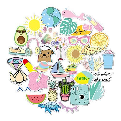 Aufkleber für Mädchen, niedlich, für Laptops, Wasserflasche, Skateboard, Motorrad, Handy, Fahrrad, Gepäck, Gitarre, Fahrrad, Fahrrad, 50 Stück Pink 35 VSCO