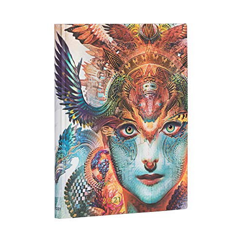 Paperblanks 12 Monate Softcover Flexis-Kalender 2021 Dharma-Drache | Vertikal | Ultra (180 × 230 mm)