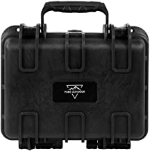 Monoprice Weatherproof/Shockproof Hard Case - Black IP67 Level dust and Water Protection up to 1 Meter Depth with Customizable Foam, 12