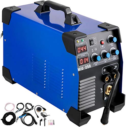 Mophorn MIG Welder 250 Amp MIG TIG Arc Welder 3 in 1 Welder Welding Machine 110V 220V TIG Welder Lift ARC Welder MMA Stick IGBT DC Inverter Welder Digital Display Combo Welding Machine