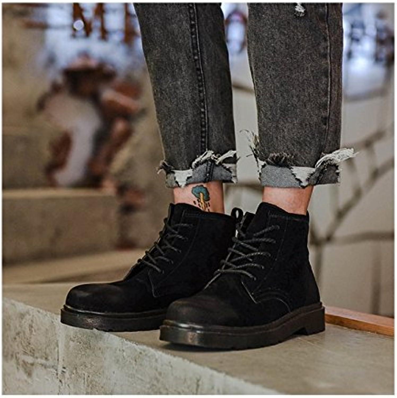 HL-PYL - Die neuen Stiefel männlichen Koreanischen Retro Martin Stiefel hohe Stiefel männliche Helfer, 41, Schwarz  | Neue Produkte im Jahr 2019