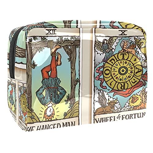 Neceser de viaje para hombres y mujeres multifunción impermeable baño organizador de ducha kit rojo Santa Claus risa, Tarot Card 6, 18.5x7.5x13cm/7.3x3x5.1in,
