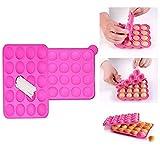Xrten Silicone Cake Pop Stampo, 20 Cakepops può Essere Usato per Fare Focaccine di Biscotti Lecca-Lecca